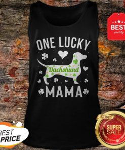 St Patricks Day Dachshund Lucky Mama Mom Dog Tank Top - Design By Rulestee.com