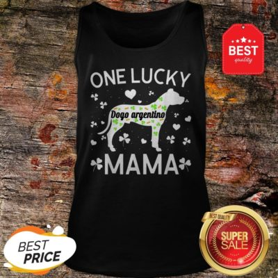 St Patricks Day Dogo Argentino Lucky Mama Mom Dog Gift Tank Top  - Design By Rulestee.com