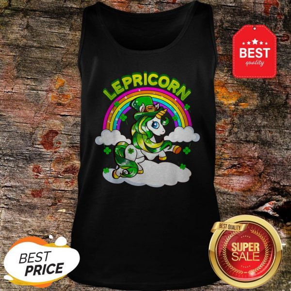 St Patricks Day Girls Unicorn Irish Lepricorn Tank Top - Design By Rulestee.com