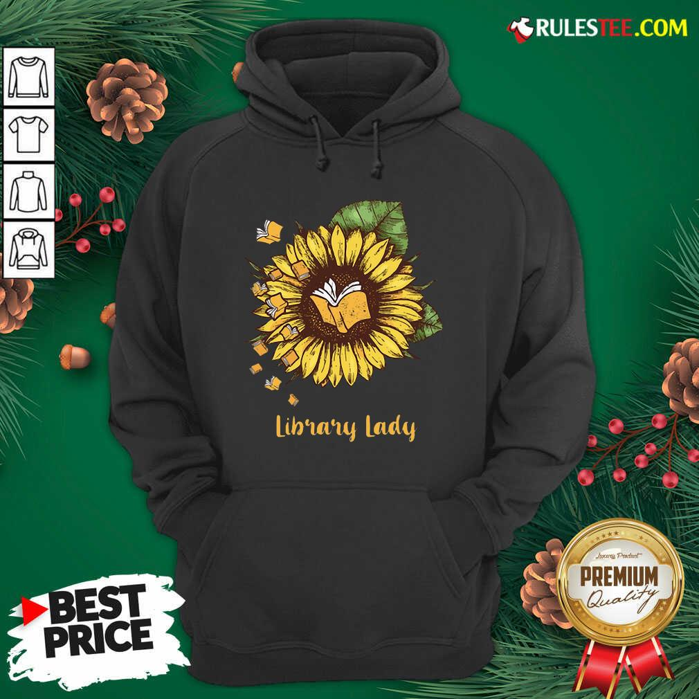 Sunflower Books Library Lady Hoodie - Design By Rulestee.com