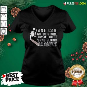 Take Car Go To Store Buy All The Tp Grab Germx V-neck - Design By Rulestee.com