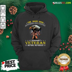Too Many Died Defending Our Country I Support Veteran American Flag Hoodie - Design By Rulestee