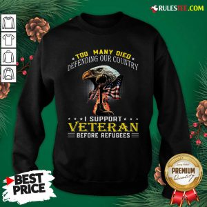 Too Many Died Defending Our Country I Support Veteran American Flag Sweatshirt - Design By Rulestee