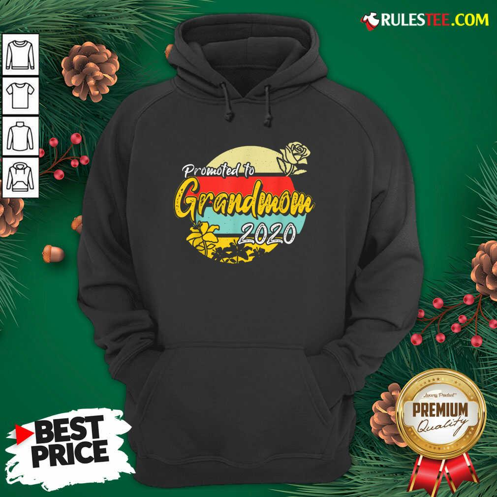 Top Promoted To Grandmom Est 2020 Mothers Day Gifts New Grandma Hoodie - Design By Rulestee