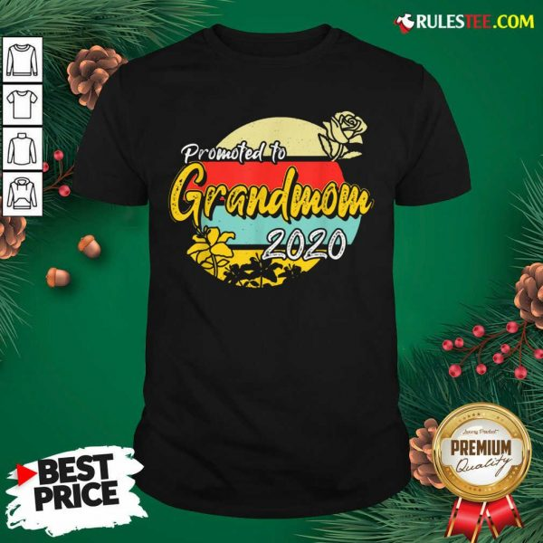 Top Promoted To Grandmom Est 2020 Mothers Day Gifts New Grandma Shirt - Design By Rulestee