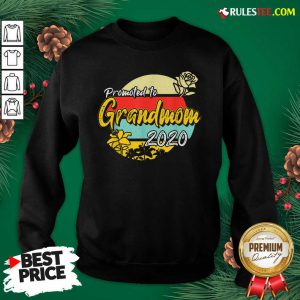 Top Promoted To Grandmom Est 2020 Mothers Day Gifts New Grandma Sweatshirt - Design By Rulestee