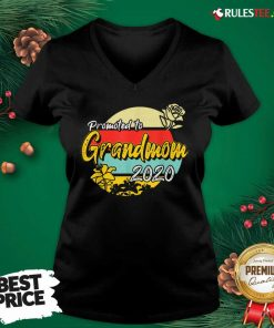 Top Promoted To Grandmom Est 2020 Mothers Day Gifts New Grandma V-neck - Design By Rulestee