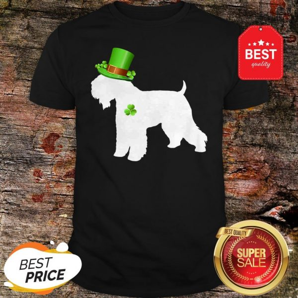 Wheaten Terriers Lucky Clover Shamrock St Patrick's Day Gift T-Shirt - Design By Rulestee.com