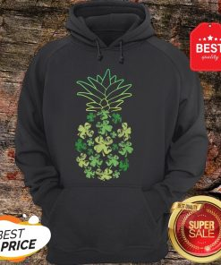 Women Pineapple Shamrock Leaf Clover St Patrick's Day Hoodie - Design By Rulestee.com