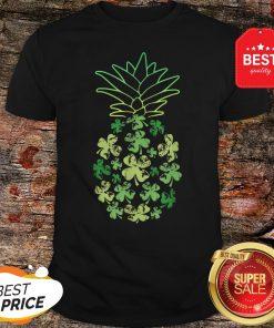 Women Pineapple Shamrock Leaf Clover St Patrick's Day T-Shirt - Design By Rulestee.com