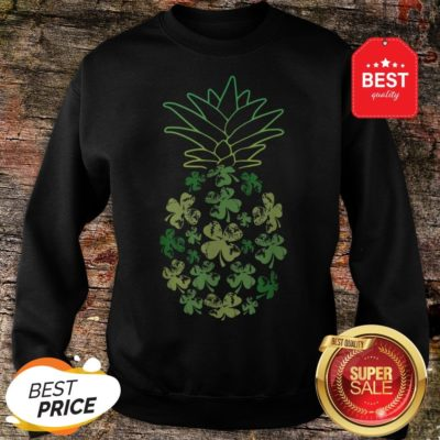 Women Pineapple Shamrock Leaf Clover St Patrick's Day Sweatshirt - Design By Rulestee.com