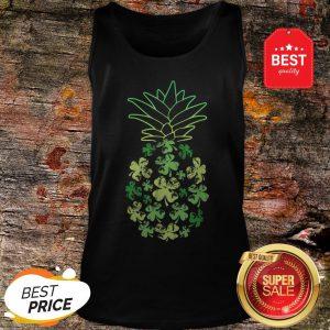 Women Pineapple Shamrock Leaf Clover St Patrick's Day Tank Top - Design By Rulestee.com