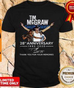 Tim Mcgraw Truck Yeah 28th Anniversary 1992 2020 Signature Thank You Shirt