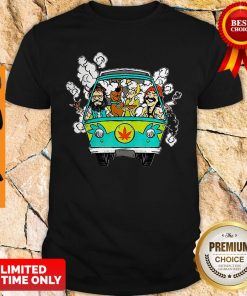 Official Hippie Weed Bus Cheech And Chong Scooby Doo Smoking Shirt