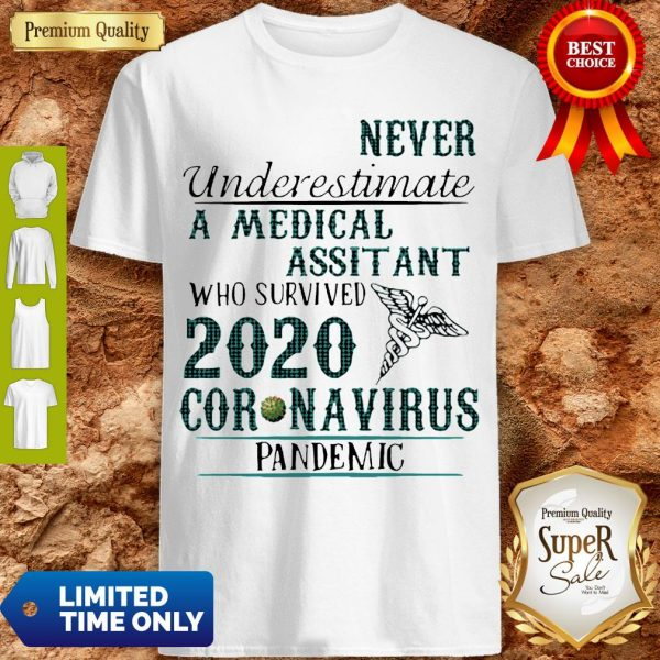 Never Underestimate A Medical Assistant Who Survived 2020 Coronavirus Shirt