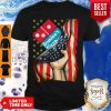 Official Domino's Pizza America Flag Shirt