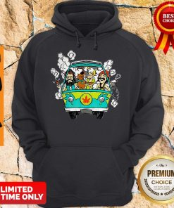 Official Hippie Weed Bus Cheech And Chong Scooby Doo Smoking Hoodie