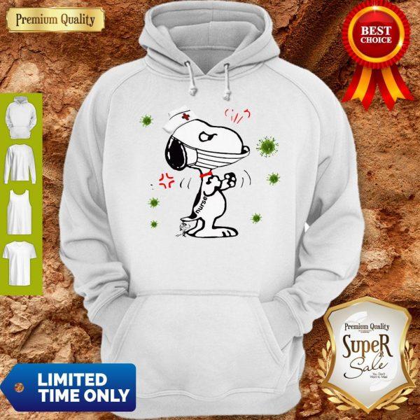 Nurse Snoopy And Woodstock Face Mask Coronavirus Hoodie