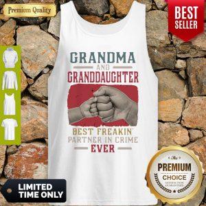 Grandma And Granddaughter Best Freakin Partner In Crime Vintage Tank Top