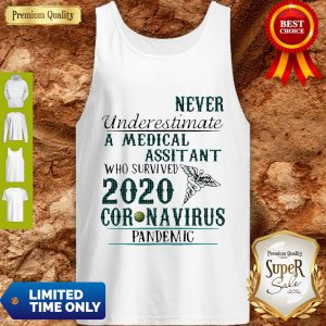 Never Underestimate A Medical Assistant Who Survived 2020 Coronavirus Tank Top