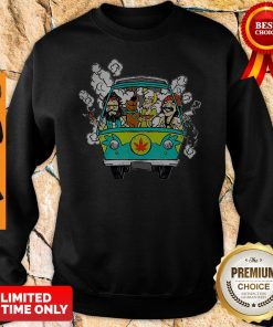 Official Hippie Weed Bus Cheech And Chong Scooby Doo Smoking Sweatshirt