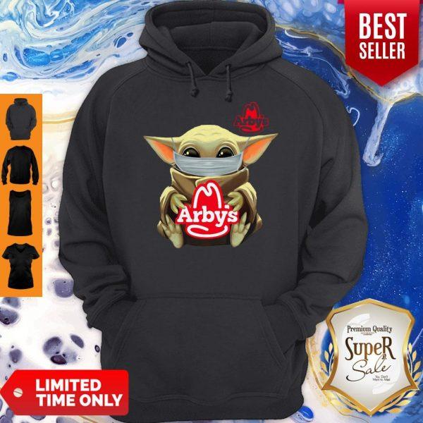 Baby Yoda Mask Hug Arby's Coronavirus Hoodie