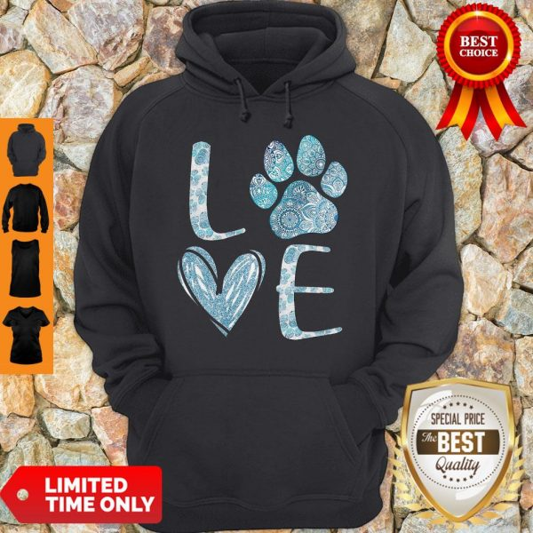 Official Lovw Paw Dog Hoodie