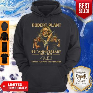 Official Robert Plant 55th Anniversary 1965-2020 Signature Hoodie