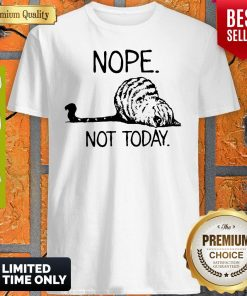 Official Cat Lazy Nope Not Today Shirt