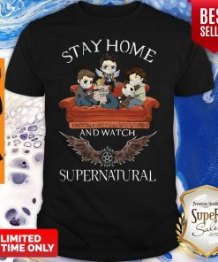 Official Stay Home And Watch Supernatural Shirt