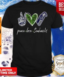 Official Peace Love Seattle Seahawks Diamond Shirt