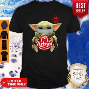 Baby Yoda Mask Hug Arby's Coronavirus Shirt