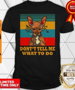 Official Cat Smoke Don't Tell Me What To Do Shirt
