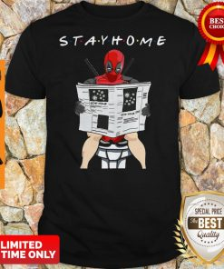Official Deadpool On Toilet Stay Home Shirt