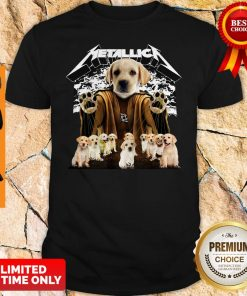 Official Metallica Labrador Retriever Master Of Puppies Shirt
