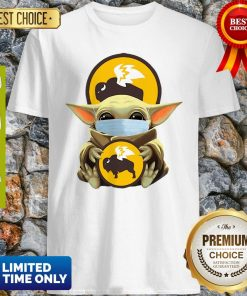 Official Baby Yoda Mask Hug Buffalo Wild Wings Shirt