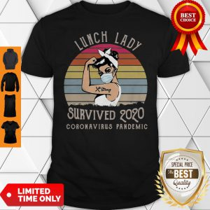 Vintage Lunch Lady Survived 2020 Coronavirus Pandemic Covid-19 Shirt