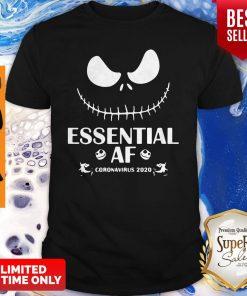 Official Face Jack Skellington Essential AF Coronavirus 2020 Shirt