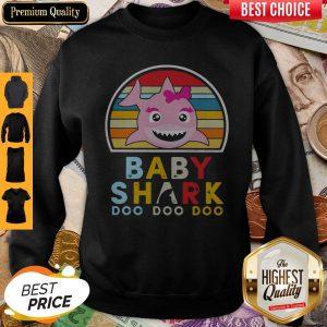Baby Girl Shark Doo Doo Doo Vintage Sweatshirt