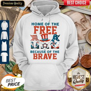 Home Of The Free Because Of The Brave Santa American Flag Veteran Independence Day Hoodie
