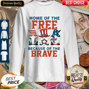 Home Of The Free Because Of The Brave Santa American Flag Veteran Independence Day Sweatshirt