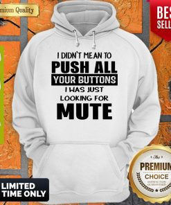 I Didn't Mean To Push All Your Buttons I Was Just Looking For Mute Hoodie
