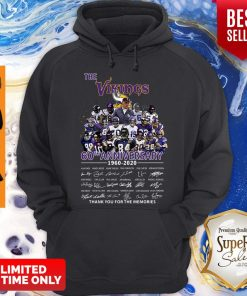 The Vikings 60th Anniversary 1960 2020 Signature Thank You For The Memories Hoodie