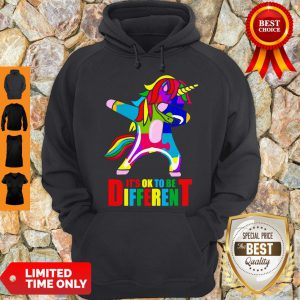 Official Autism Unicorn It's Ok To Be Different Hoodie