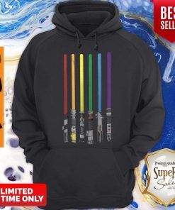 Awesome LGBT Flag Light Swords Star War Hoodie