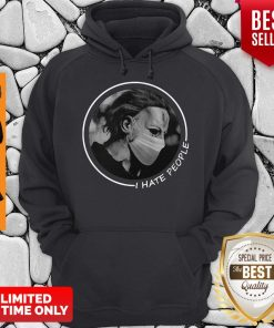 Official Michael Myers Face Mask I Hate People Hoodie