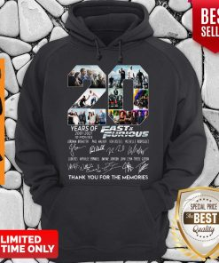 Years Of 2001 2021 Fast And Furious Thank You For The Memories Hoodie