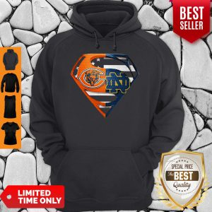Superhero Chicago Bears And Notre Dame Diamond American Flag Independence Day Hoodie