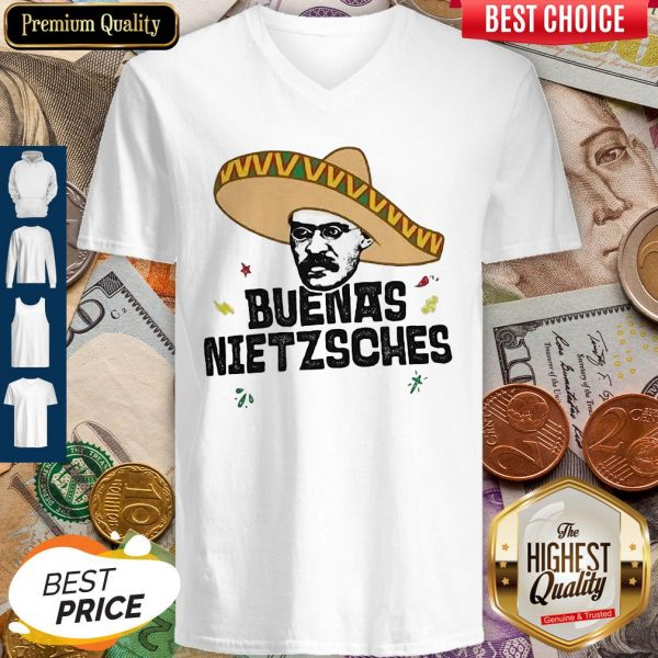 Mexican Friedrich Buenas Nietzsche V-neck