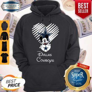 Mickey Mouse The Heart Dallas Cowboys Hoodie
